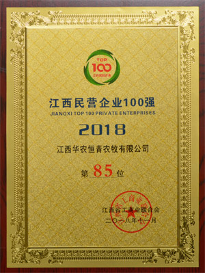 2018江西民营企业100强第85位